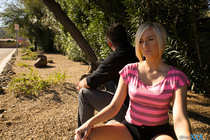 Lusty Kate England Gets Back At Her Ex By Seducing A Stranger With Her Juicy Bald Pussy Until He Gives Her A Facial - Picture 1